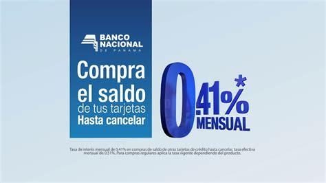 Banco Nacional de Panamá compra de saldo de tus tarjetas ...