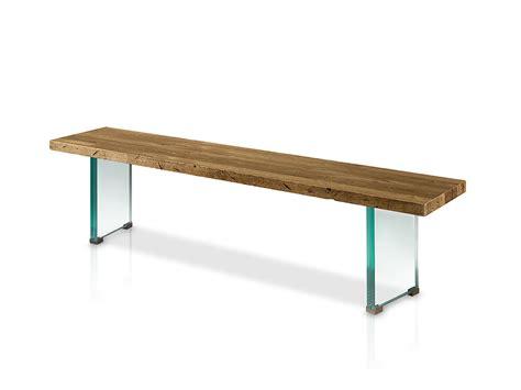 Banco para mesa de comedor con patas de cristal