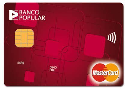 Banco Popular Caracteristicas De Sus Tarjetas De Crédito