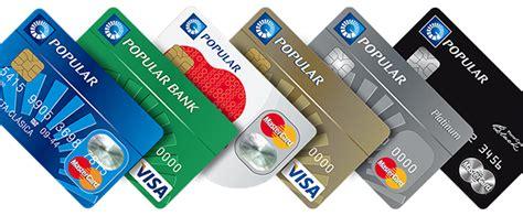 Banco Popular Tarjetas de Credito y Debito | La Economia ...
