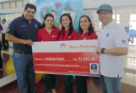 Banco ProCredit y sus colaboradores donaron al Teletón 2014