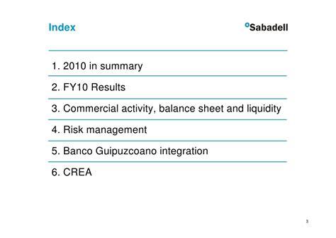 Banco Sabadell FY10 Results