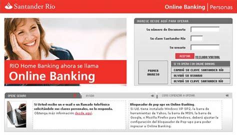 Banco Santander Rio elegido mejor banco online