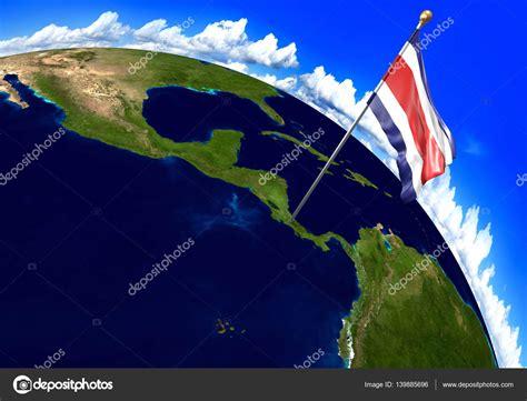 Bandera Nacional de Costa Rica marcar la ubicación del ...