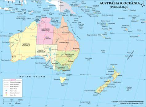 Banderas, Mapas, Paises y Capitales de OCEANÍA