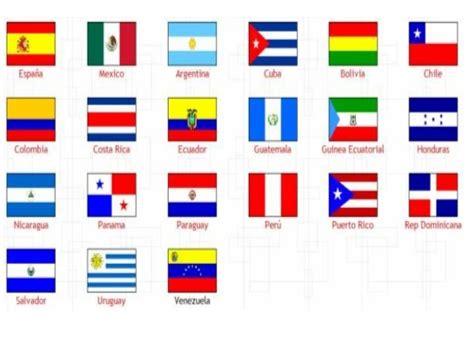 Banderas países hispanohablantes