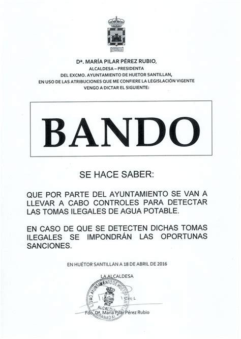bando – Huétor Santillán