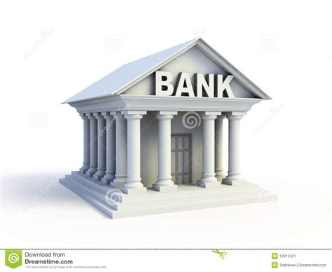 Bank 3d Icon Stock Image   Image: 12912421