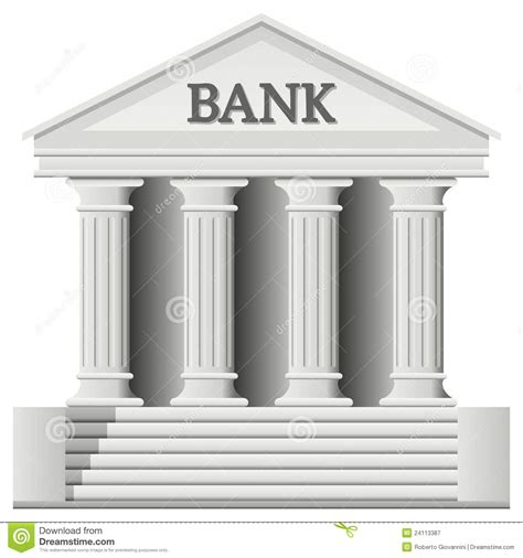 Bank Building Icon stock vector. Illustration of icon ...