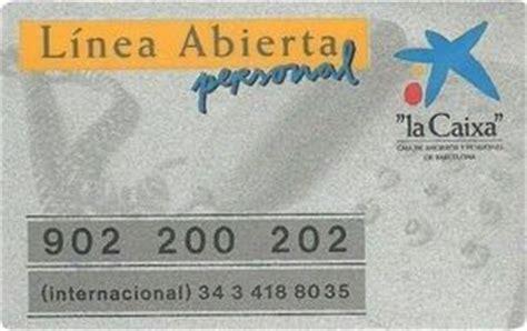 Bank Card: Linea Abierta personal (la Caixa - Caixa de Etv ...