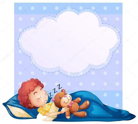 Banner con niño durmiendo — Vector de stock #51352529 ...