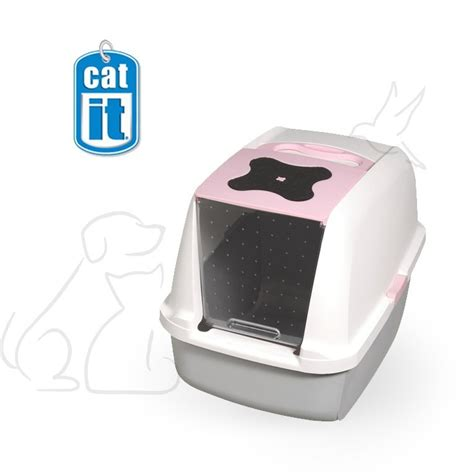 Baño sanitario cubierta rosada para gatos | Best for Pets