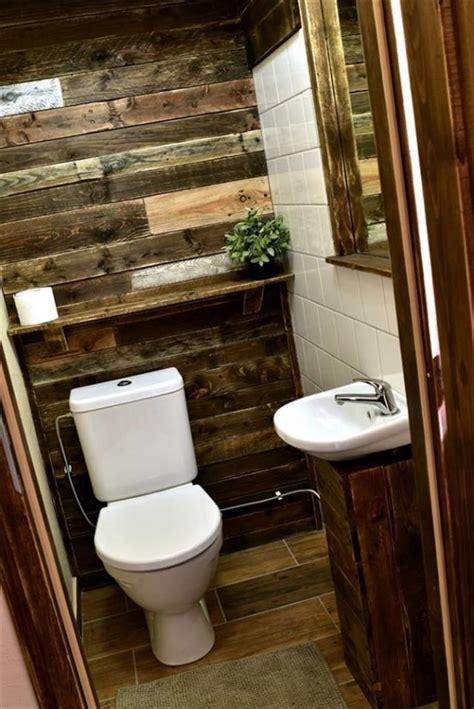 Baños decorados económicos reciclando Palets: 30 Ideas ...