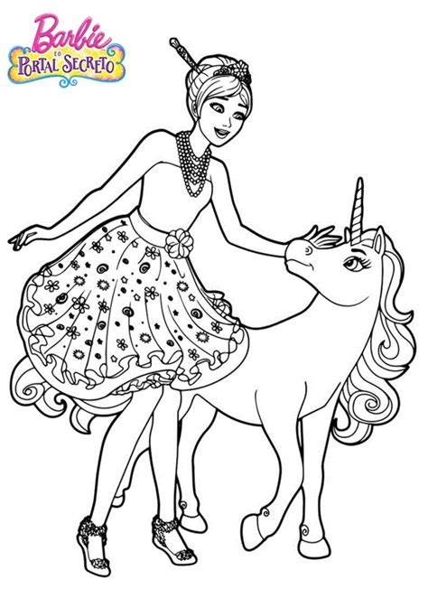 Barbie para Colorir e Imprimir - Muito Fácil - Colorir e ...