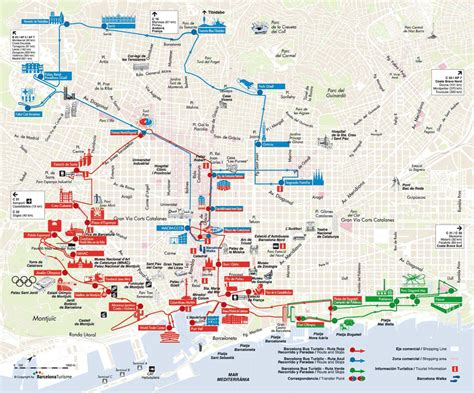 Barcelona Bus Turistic - Map