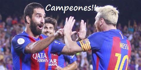 Barcelona Campeón Supercopa 2016   Barça 3-Sevilla 0