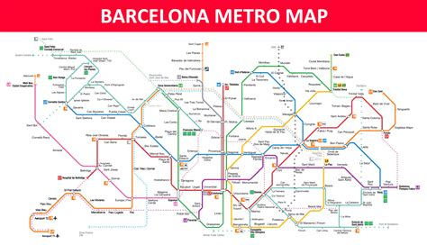 Barcelona Metro Map - Lines, Stations and Interchanges