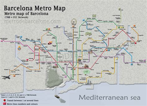 Barcelona metro map - Open our Barcelona metro map and ...