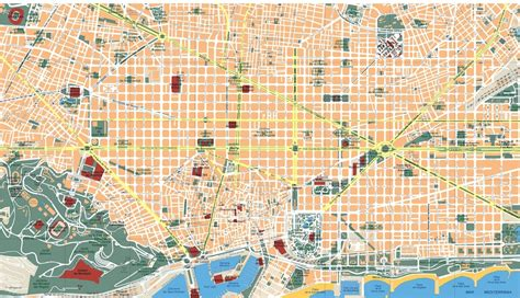 Barcelona Vector map. Eps Illustrator Map | A vector eps ...