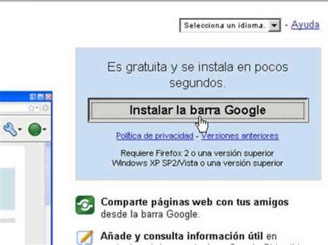 Barra Google en Firefox   Cómo descargar e instalar  En ...