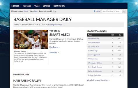 Baseball Manager   Fantasy Baseball