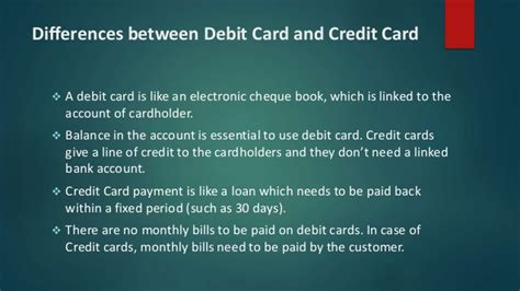 Basic knowledge about credit card & debit card