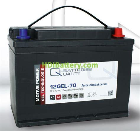 Batería de gel 12 Voltios 70 Amperios Q Batteries 12GEL 70 ...