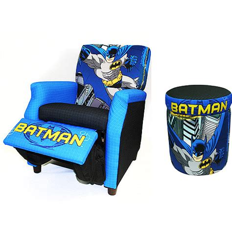 Batman Recliner and Storage Ottoman Value Bundle - Walmart.com