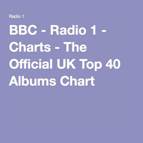 Bbc Radio 1 Charts The Official Uk Top 40 Albums Chart ...