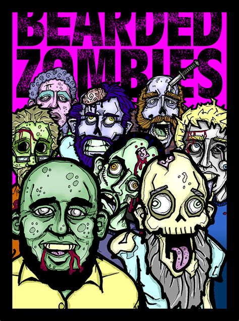 Bearded Zombies Group Photo Digital Art by Christopher Capozzi
