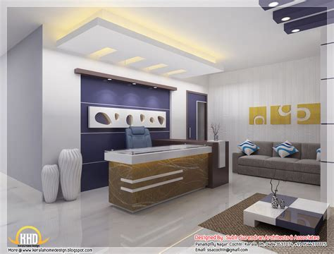 Beautiful 3D interior office designs   Kerala home design ...