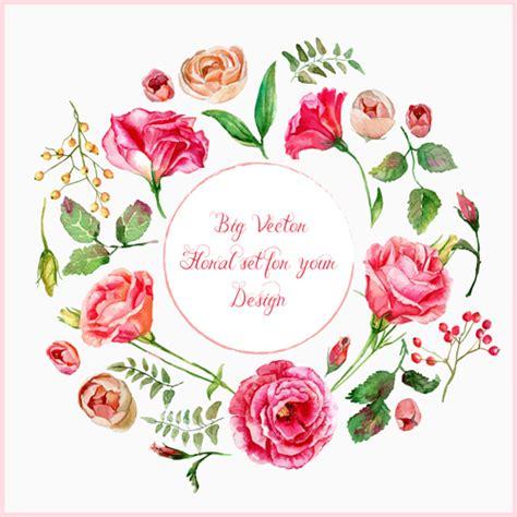Beautiful pink flower vector art background 03   WeLoveSoLo