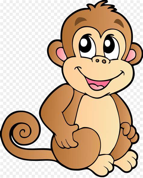 Bebé Monos Chimpancés de dibujos animados Clip art - mono ...