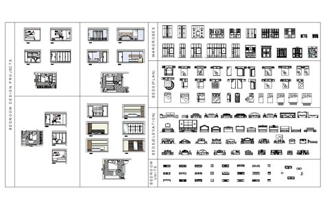 Bedroom furniture CAD block collection - CADblocksfree ...