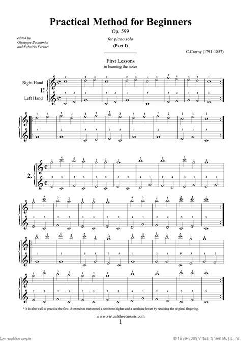 Beginners Sheet Music For Piano   New Calendar Template Site