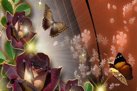 Bellas flores y mariposas (65544)