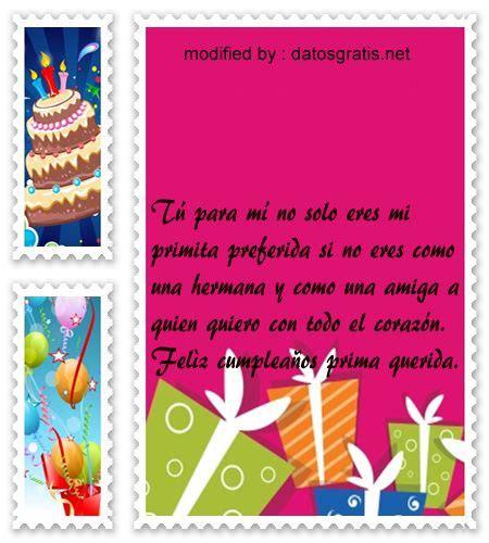 bellos mensajes con imàgenes de cumpleaños para una prima ...
