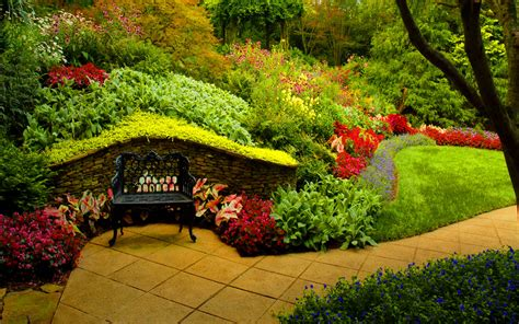 Bench in Spring Park Full HD Wallpaper and Background ...