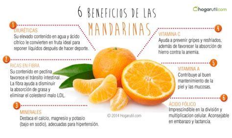 Beneficios de la mandarina para la salud.
