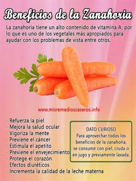 Beneficios de la zanahoria | Salud y Remedios Caseros ...