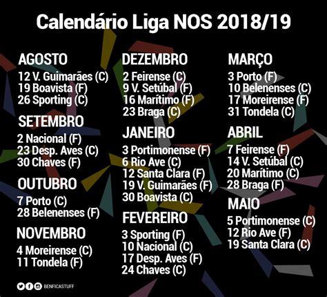 Benfica - calendário 2018 2019 | Serbenfiquista.com