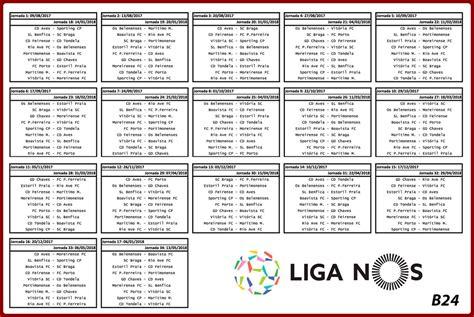 Benfica Glorioso 1904: Calendário Liga Nos 2017/2018