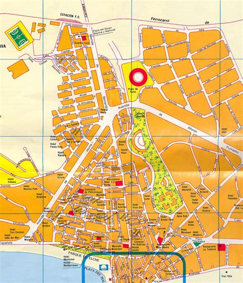 Benidorm plano nuevo centro plan map mapa carte karte