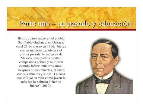Benito Juarez Presentation Lamberti