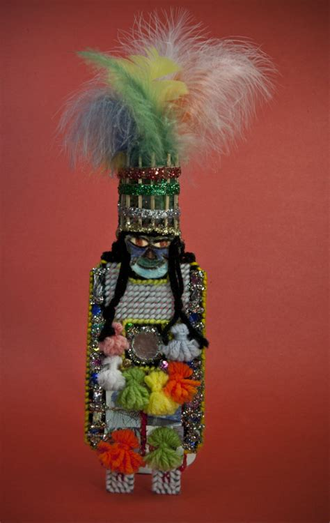 Bermuda Gombey Dancer Doll Made from Needlepoint, Glitter ...