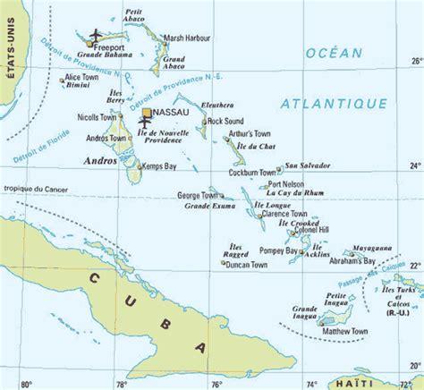 Bermudes sur la carte du monde