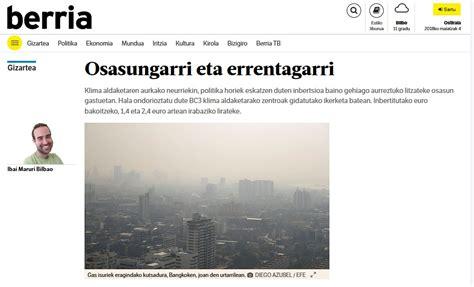 """Berria egunkaria """"Osasungarri eta errentagarri"""" an ..."""