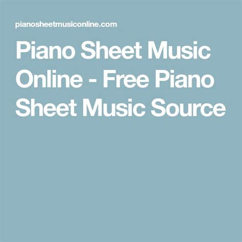Best 25+ Free piano sheet music ideas on Pinterest | Free ...