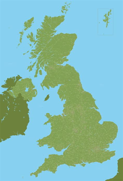 Best detailed map base of the UK / United Kingdom - Maproom