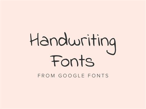 Best free handwriting fonts from Google Fonts 2018 ...
